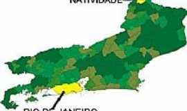 Natividade - Mapa de Localização - Natividade-RJ