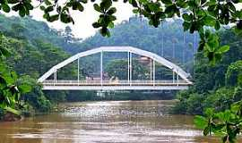 Piraí - Ponte metálica sobre o rio Piraí - por Jorge A. Ferreira Jr.