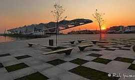 Rio de Janeiro - Rio de Janeiro-RJ-Pôr do Sol no Museu do Amanhã na Praça Mauá-Foto:www.flickr.com