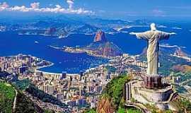 Rio de Janeiro - Rio de Janeiro-RJ-Vista do Cristo e Pão de Açucar-Foto:Facebook