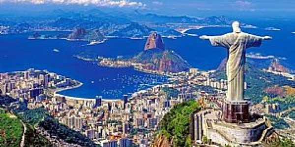 Rio de Janeiro-RJ-Vista do Cristo e Pão de Açucar-Foto:Facebook