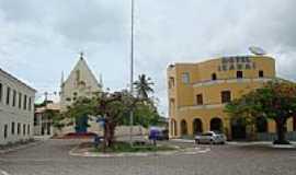 Itaparica - Pracinha no centro de Itaparica-BA-Foto:cerrado