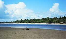 Itaparica - Praia na Barra do Gil em Itaparica-BA-Foto:heberteguedes