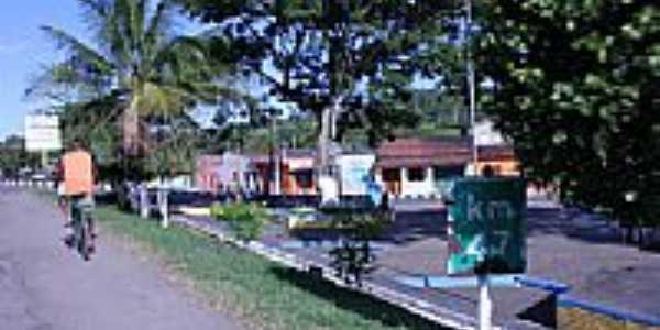 Praça em Itapé-BA-Foto:Dimas Justo
