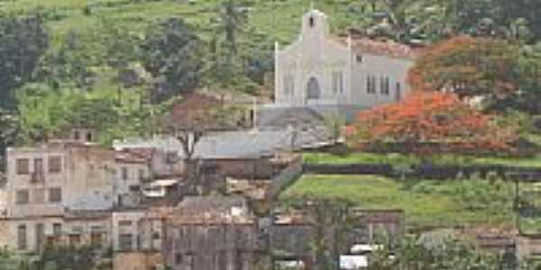 Igreja N.S. Conceição Vista do Rio Jequitinhonha Itapebi, por Arnaldo Alves.