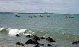 Baía Formosa - Barcos em Baía Formosa-Foto:F. Gomes