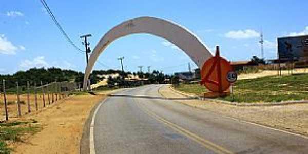 Baia Formosa-RN-Pórtico de entrada-Foto:Wilson Alcaras