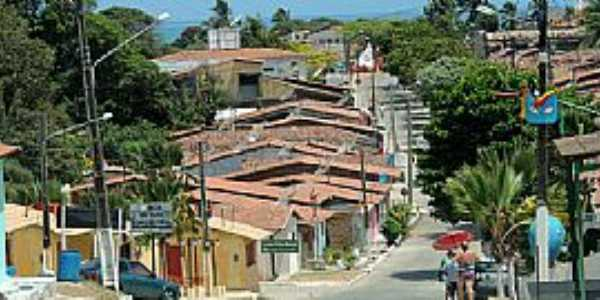 Baia Formosa-RN-Rua central-Foto:www.baiaformosa.com.br