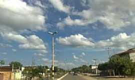 Baraúna - Avenida em Baraúna-Foto:Jorge Hirata