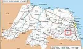 Boa Sa�de - Mapa de Localiza��o - Boa a�de-RN