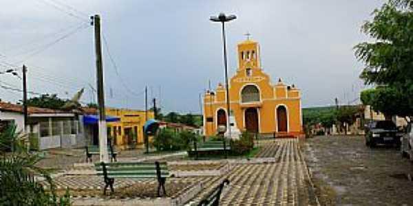 Bom Jesus-RN-Praça e Igreja Matriz-Foto:Wilson Alcaras