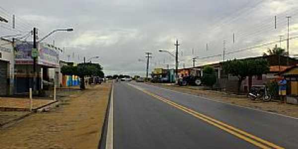 Bom Jesus-RN-Rodovia atravessando a cidade-Foto:Wilson Alcaras