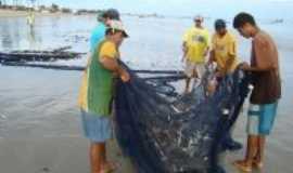Cai�ara do Norte - A pesca de tr�s malho uma das principais fonte de renda da comunidade, Por Hugo Willian Cacho
