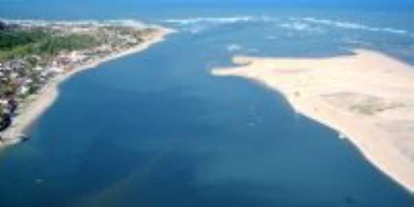 Foto a érea de Barra do Cunhaú – Canguaretama, RN , Por Adoastro Dantas