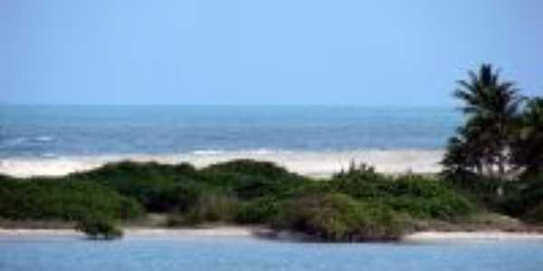 Vista a érea de Barra do Cunhaú – Canguaretama, RN, Por Adoastro Dantas