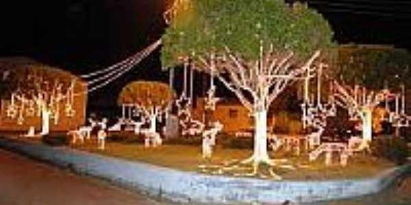 Praça com decoração natalina em Doutor Severiano-Foto:mundonovorn.