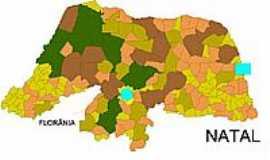 Florânia - Mapa