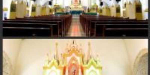 Interior da Igreja Matriz de Sao Sebastião Florânia, Por Elizeth Dantas