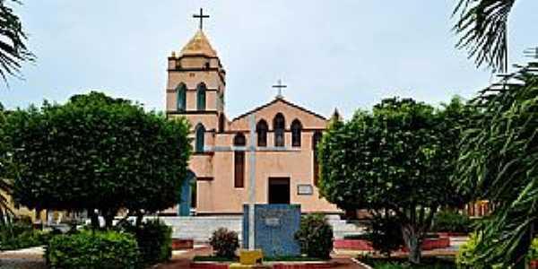 Frutuoso Gomes-RN-Igreja Matriz-Foto:Wilson Alcaras