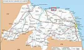 Guamar� - Mapa de Localiza��o - Guamar�-RN