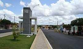 Itaú - Itaú-RN-Pórtico de entrada da cidade-Foto:Walter Leite