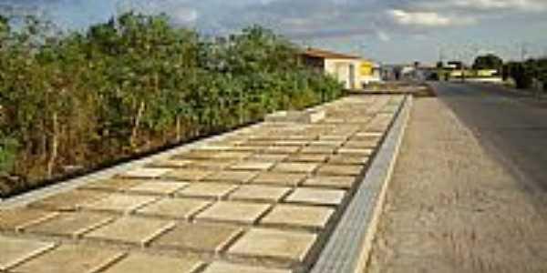 Calçada da entrada de Jaçanã-RN-Foto:.Nilson.Auzê