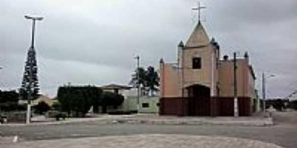 Jaçanã-RN-Igreja Matriz de N.Sra.de Fátima-Foto:Rodrigo Dantas