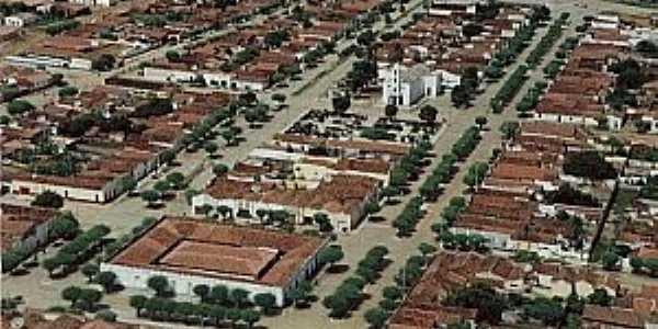 Janduís-RN-Vista aérea da cidade-Foto: ciranduis.blogspot.com