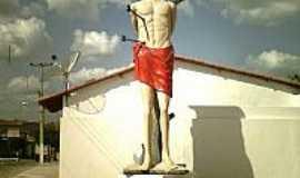 João Dias - Estátua de São SEbastião padroeiro de João Dias-Foto:CRISTÓVÃO JACQUES