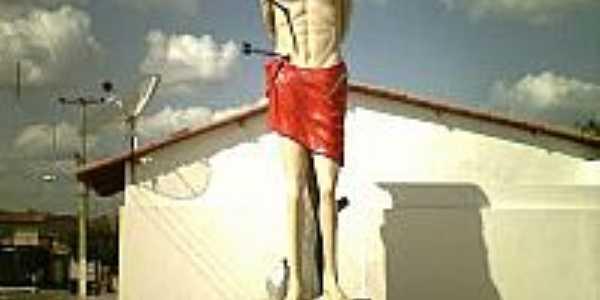 Estátua de São SEbastião padroeiro de João Dias-Foto:CRISTÓVÃO JACQUES