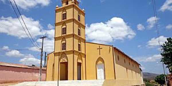 Lajes Pintadas-RN-Igreja de São Francisco de Assis-Foto:Mapio.net