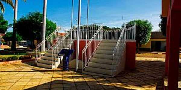 Lucrécia-RN-Coreto na Praça da Matriz-Foto:Wilson Alcaras