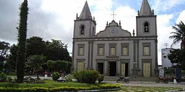 Martins-RN-Praça e Matriz de N.Sra.da Conceição-Foto:Walter Leite