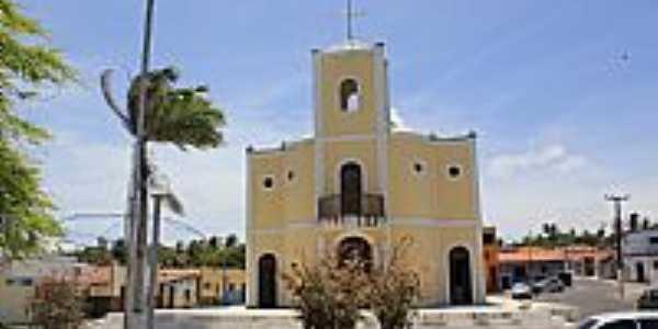 Maxaranguape-RN-Praça e Igreja de N.Sra.da Conceição-Foto:Wilson Alcaras