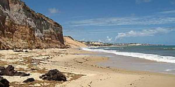 Nísia Floresta-RN-Falésias e praia em Barra de Tabatinga-Foto:ELAINE KAWABE