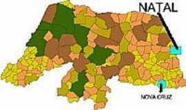 Nova Cruz - Mapa de Localiza��o - Nova Cruz-RN