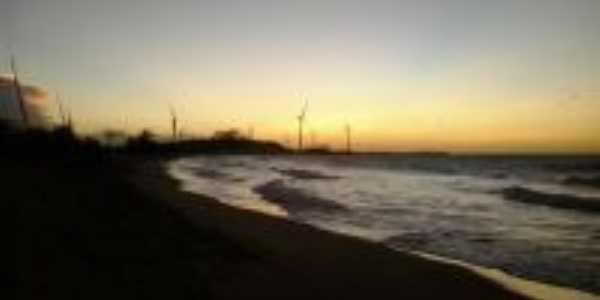 Pôr do sol Praia do Marco distrito de Pedra Grande-RN-Brasil a 18 KM, Por Laedson Vitoriano