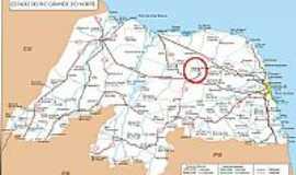 Pedra Preta - Mapa de Localiza��o - Pedra Preta-RN