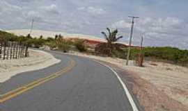 Porto do Mangue - Porto do Mangue-RN-Chegando na cidade-Foto:mario cesar almeida …