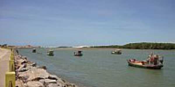 Porto do Mangue-RN-Embarcações no Rio das Conchas-Foto:Joserley Carlos
