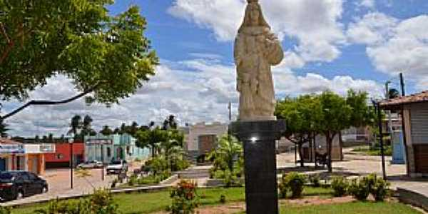 Pureza-RN-Imagem de N.Sra.da Pureza na Praça central-Foto:pureza.rn