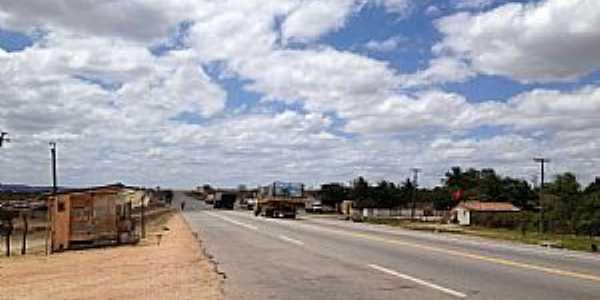 Riachuelo-RN-Rodovia cortando a cidade-Foto:Dedé de Zé Luca