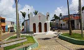 Rio do Fogo - Rio do Fogo-RN-Praça e Igreja de N.Sra.dos Navegantes-Foto:Wilson Alcaras