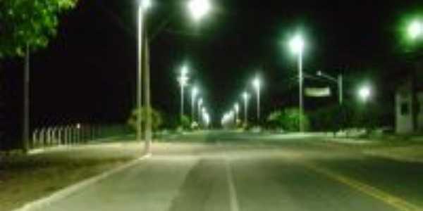 Entrada da Cidade à Noite, Por Luzimar de Oliveira