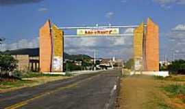 São Vicente - Pórtico de entrada de São Vicente -RN-Foto:Wilson Alcaras