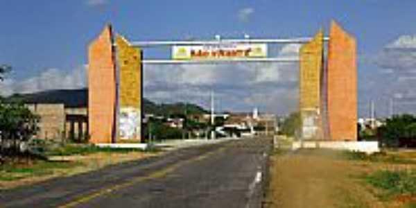 Pórtico de entrada de São Vicente -RN-Foto:Wilson Alcaras