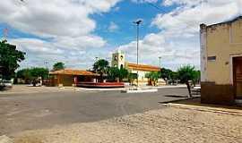 Taboleiro Grande - Taboleiro Grande-RN-Igreja e praça central-Foto:Wilson Alcaras