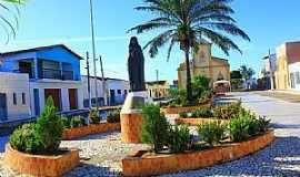 Tangará - Tangará-RN-Imagem de Santa Terezinha na praça-Foto:Wilson Alcaras