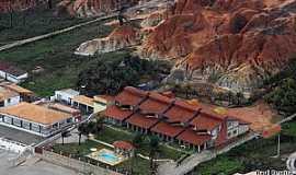 Tibau - Tibau-RN-Casas e fal�sias na orla-Foto:TIBAU NOTICIAS