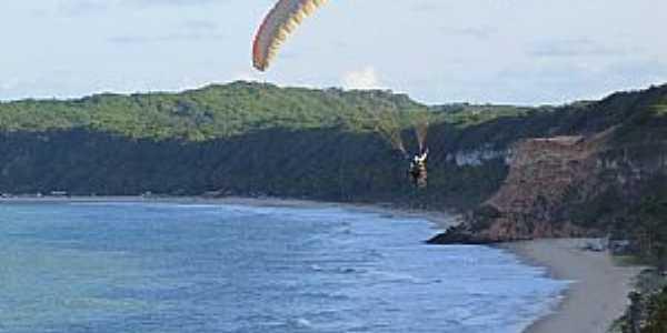 Tibau do Sul-RN-Parapente na Praia do Curral-Foto:Rui Simão